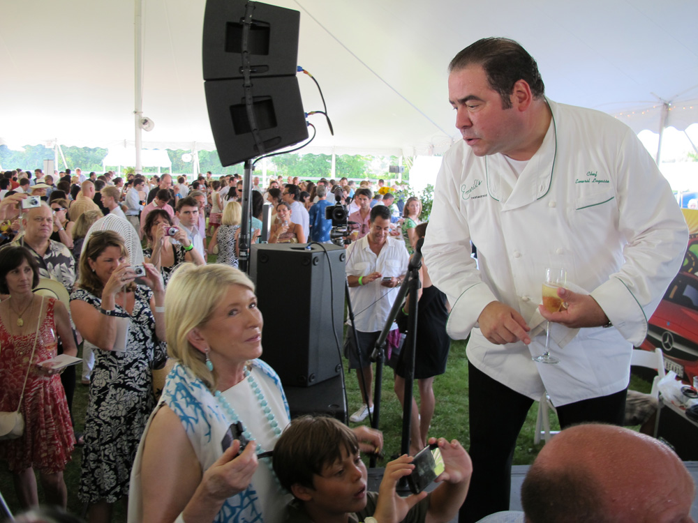 Emeril Lagasse and Martha Stewart